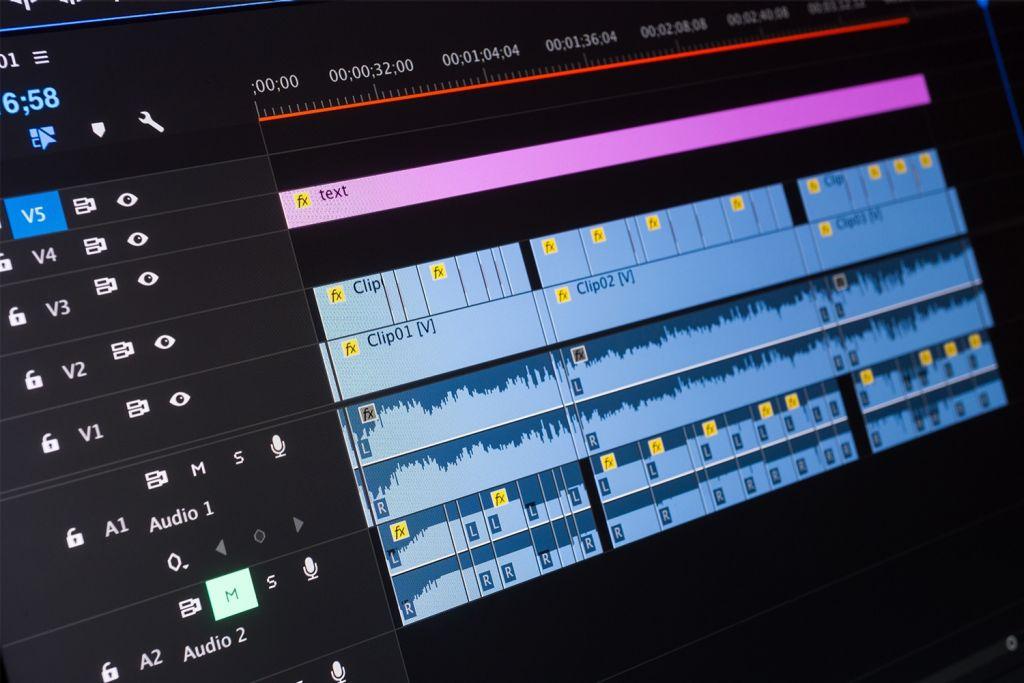 Edición de video en una computadora
