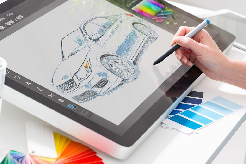 Diseño gráfico con una tableta de dibujo