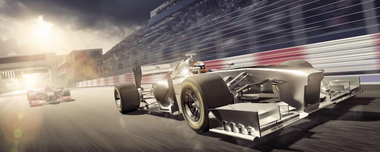 Dos autos de carrera representan la velocidad de memoria y la latencia CAS