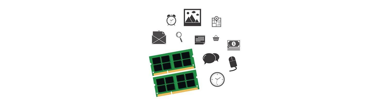 Partes de la computadora e iconos sociales