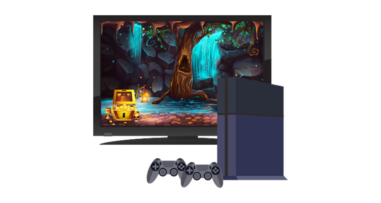 Consola de juego y monitor de TV