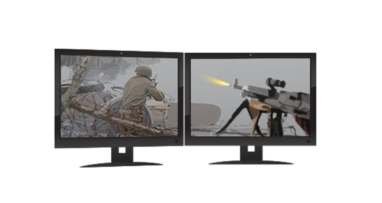 Monitores de dos juegos