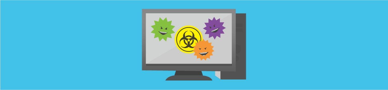 Los virus de la computadora atacan a la computadora de escritorio.