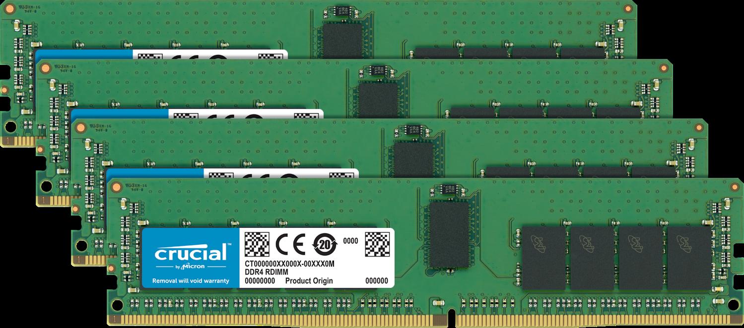 Memoria Crucial (RAM) para una computadora.