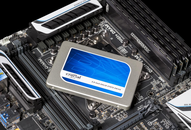 Imagen de una SSD de 2MB, 2.5in BX200 Crucial