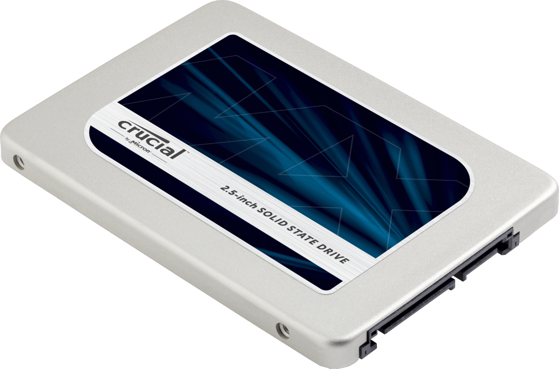 Unidad de estado sólido Crucial (SSD) para una computadora, aislado en un fondo blanco